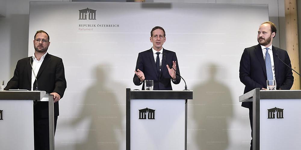Christian Hafenecker (FPÖ), Kai Jan Krainer (SPÖ), Fraktionschef der SPÖ, Nikolaus Scherak (NEOS), stellvertretender Klubobmann der NEOS. Die Oppositionsparteien haben sich auf einen neuen Untersuchungsausschuss zu den Korruptionsermittlungen gege...