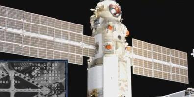 """Das """"Nauka""""-Modul kurz bevor es an der ISS angedockt hatte. Einige Stunden später erfolgte an den Triebwerken des Moduls eine unbeabsichtigte Zündung, welche die ganze Raumstation ISS aus der Flugbahn warf. Es war das vorläufig letzte Kapitel eine..."""