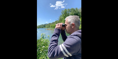 Ueli Jäger ist gerne im Naturschutzgebiet am Rhein bei Rüdlingen unterwegs.
