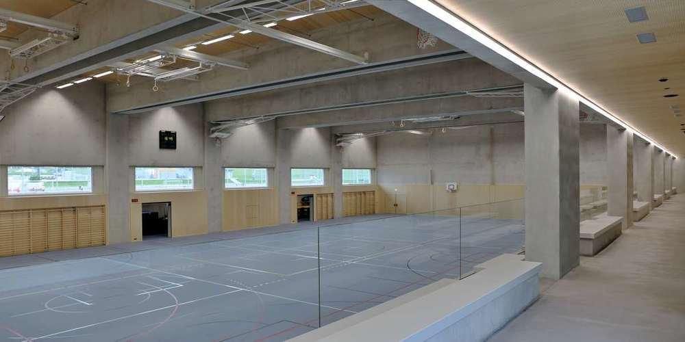 Die neuen Sportanlagen in Eschenbach wurden mit 5'000m3 NeoCret® erbaut.