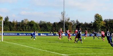 Kristian Nushi trifft zum siegbringenden 3:2 in der 14. Minute der Verlängerung. Der schöne Rückpass kam von Orcun Cengiz.