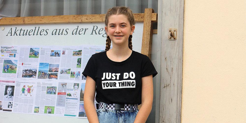 Die 15-jährige Celina Niederhauser aus Jenaz wurde im Juni von der Procap Grischun zur Behindertensportlerin 2021 ausgezeichnet.