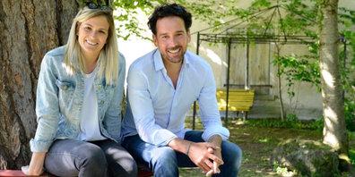 Michèle Bodmer und Toby Trafelet betreiben die Sommerbar.
