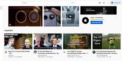 Auf der Startseite der Videoplattform sollen in Zukunft keine Werbeanzeigen zu Themen wie Alkohol, Glückspiel und Politik geschaltet werden. Der betroffene Masthead ist oft die teuerste und begehrteste Werbeeinheit der Plattform.