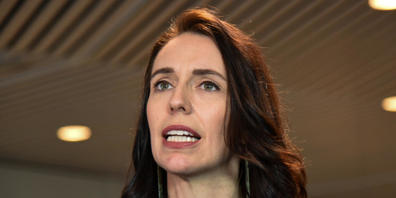 New Zealand Prime Minister Jacinda Ardern speaks to the media after the New Zealand Institute of International Affairs event at national museum Te Papa in Wellington, New Zealand, Wednesday, July 14, 2021. (AAP Image/Ben Mckay) NO ARCHIVING