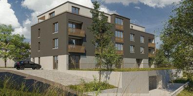 An der Berghofstrasse in Gossau ZH entsteht ein Neubau mit 16 Mietwohnungen für ältere Menschen.