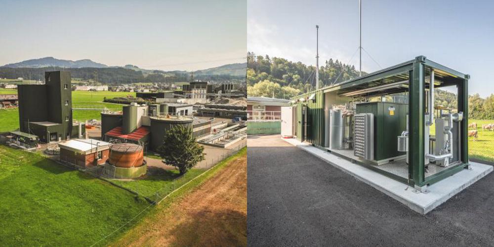 Biogasanlage bei der ARA-Obersee in Schmerikon. Die Jahresproduktion beträgt 2,5 Mio. kWh.
