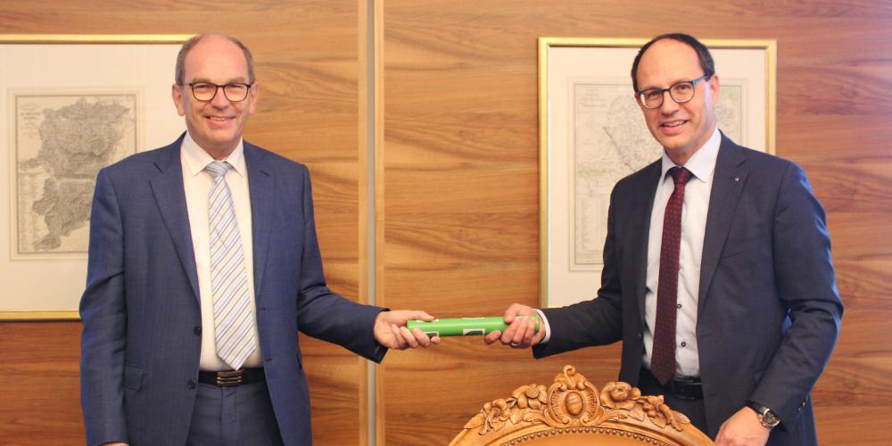 Wechsel des Regierungspräsidenten: Bruno Damann und Marc Mächler