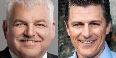 Othmar Reichmuth, Ständerat SZ und Josef Ender, Sprecher des Aktionsbündnisses Urkantone.