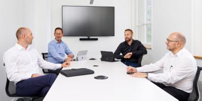 v.l.n.r.: Reto Brunner, Titus Ladner, Michael Gnädinger und Stephan Rausch.
