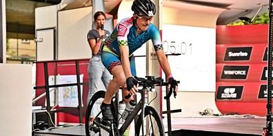 Herbert Zahner fuhr 1005 Kilometer auf dem Rennrad in 34 Stunden.