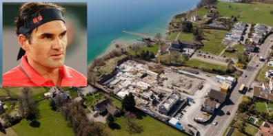 Die Baustelle auf dem Grundstück von Tennis-Star Roger Federer in Rapperswil-Jona steht wegen einer Einsprache still.