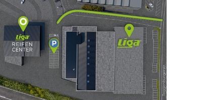 Der Standort des neuen LIGA Reifen Centers.