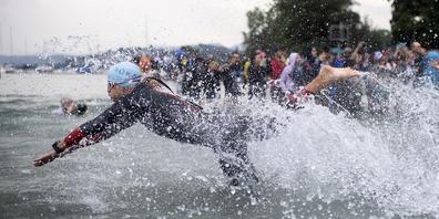 Am 8. August 2021 wird in Rapperswil geschwommen, Rad gefahren und gerannt.
