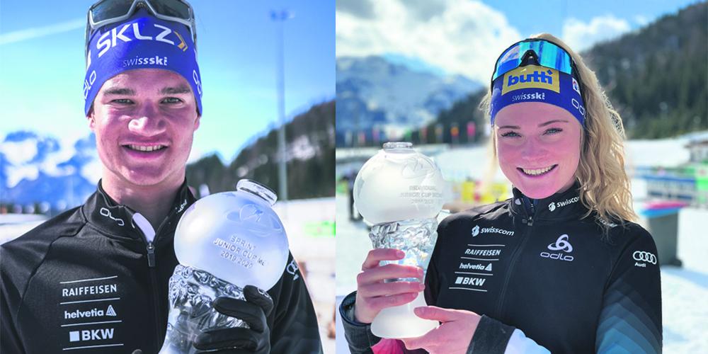 Geschafft: Hartweg und Baserga gewinnen die Gesamtwertung im Junior Cup. (Fotomontage)