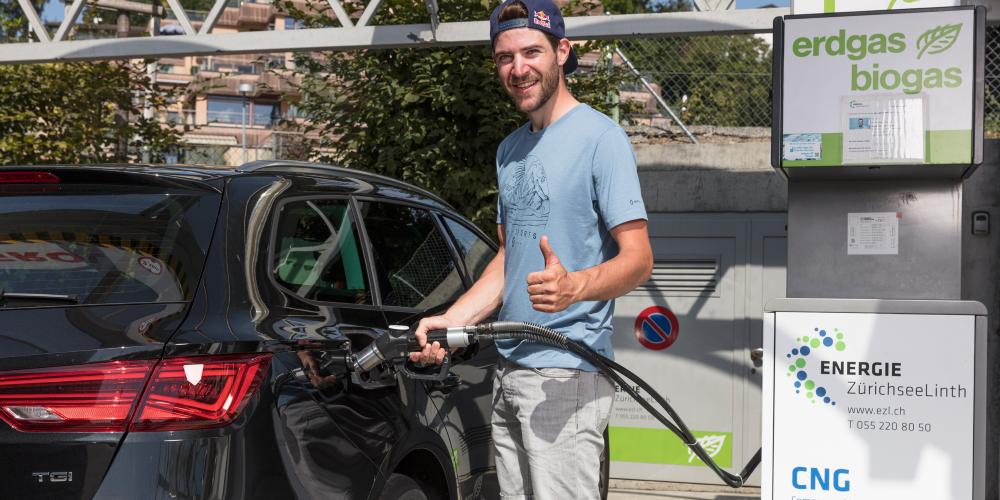 2020 lieferten die acht EZL-Gas-Tankstellen der Region 2,7 GWh Treibstoff an die Mobilitätskunden aus.