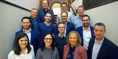 13 der 19 CVP Kandidaten für die Kantonsratswahl vom kommenden März.