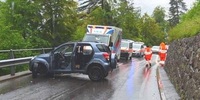 Das Unfallfahrzeug der 71-jährigen Fahrerin.