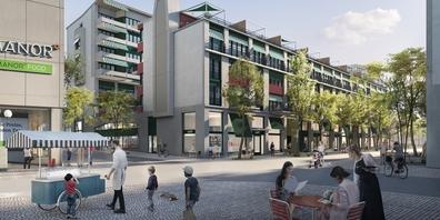 «Bloom» - so der Name des neuen Citycenter in Rapperswil (Visualisierung Raumgleiter AG).