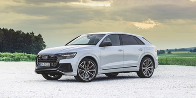 Der Audi Q8 TFSI e quattro setzt auf einen Antriebsstrang mit Dreiliter-TFSI-V6-Motor und starker E-Maschine.