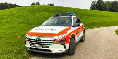 Dieser Hyundai Nexo mit Wasserstoffantrieb erreicht eine Reichweite von rund 600 Kilometern.
