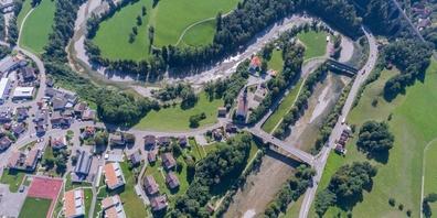 Luftaufnahme von Lütisburg