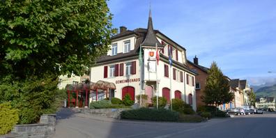 Das Gemeindehaus von Gommiswald.