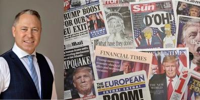 «Die Journalisten kennen keinen Halt», schreibt Dr. Philipp Gut, «Trump hatt 99.9% der Medien gegen sich.»