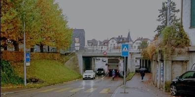 Status quo: Unterführung Hubstrasse auf der Nordseite.