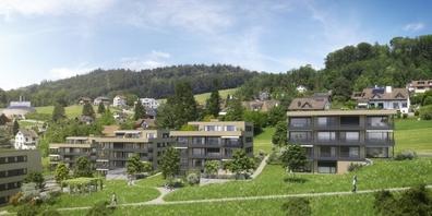 An attraktiver Südwest-Hanglage in Uznach wird ein Mix aus 2½- bis 5½-Zimmer-Wohnungen gebaut.