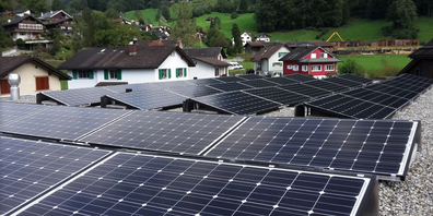 Mit dem Fonds fördert die Gemeinde Eschenbach unter anderem den Bau von Photovoltaik-Anlagen. (Symbolbild)