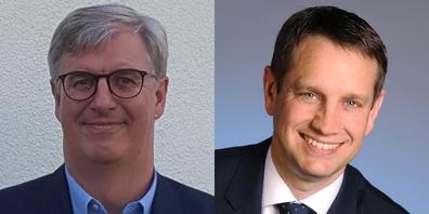 Waren vor ihrer Wahl nicht Mitglied im Gemeinderat: die Gemeindepräsidenten Marcel Benz (l.), Weesen, und Peter Hüppi (r.), Gommiswald.
