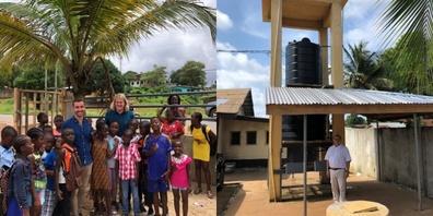 Der Kiwanis Club Benken-Linth unterstützt ein Schulprojekt in Liberia - an einer Schule konnte die Wasserversorgung dank Schweizer Technologie und Unterstützung sichergestellt werden.