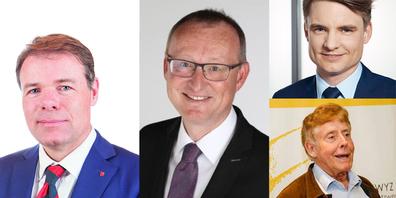 Haben dem Regierungsrat einen offenen Brief geschickt (v. l.): Dominik Zehnder, Fraktionspräsident FDP; Herbert Huwiler, Präsident SVP; Matthias Kessler, Präsident CVP, und Karl Fisch, Präsident KSGV,.