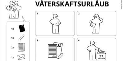 Montage-Anleitung für die Abstimmung: IKEA wirbt für den Vaterschaftsurlaub. (Bild: IKEA)