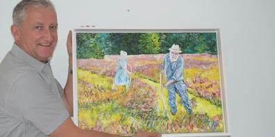 Alois Röllin freut sich, seine Ölbilder im Museum Amden zeigen zu dürfen.