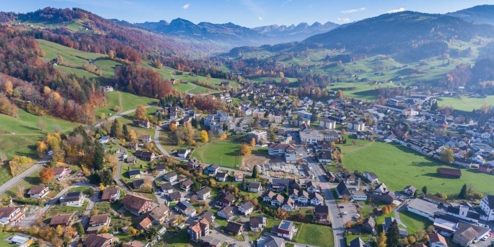 Luftaufnahme Ebnat-Kappel Herbst