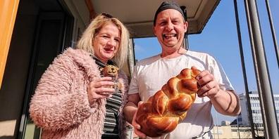 Michaela Huber und Beat Bremgartner mit vollem Engagement.