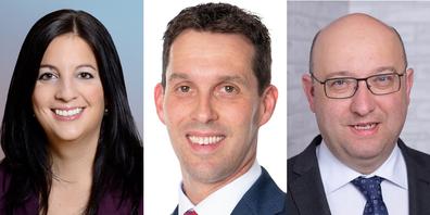 Laura Bucher (SP), Michael Götte (SVP), Beat Tinner (FDP): Welche beiden schaffen es in die St. Galler Regierung?