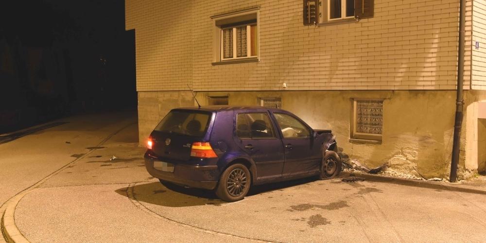 Der 33-jährige Fahrer war fahrunfähig und nur mit einem Lernfahrausweis unterwegs.