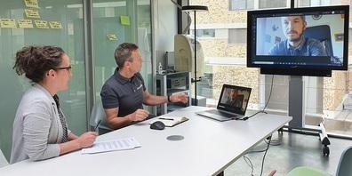 Von links: Sandra Rohr (Marketing), Urs Kälin (GF & Business Consultant) und Christian Habenstein (Sales Director Switzerland, M-Files)