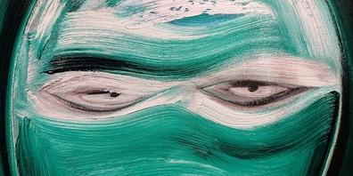 Ziel von Künstler Self ist es, die Aufmerksamkeit der Betrachtenden zu gewinnen.