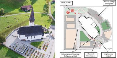Der Friedhof Jenaz wird neu und behindertengerecht gestaltet.