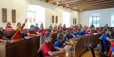 Das Kinderparlament tagte jeweils im Kantonsratssaal.