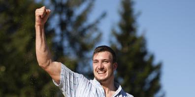 Damian Ott nach seinem bisher grössten Triumph.