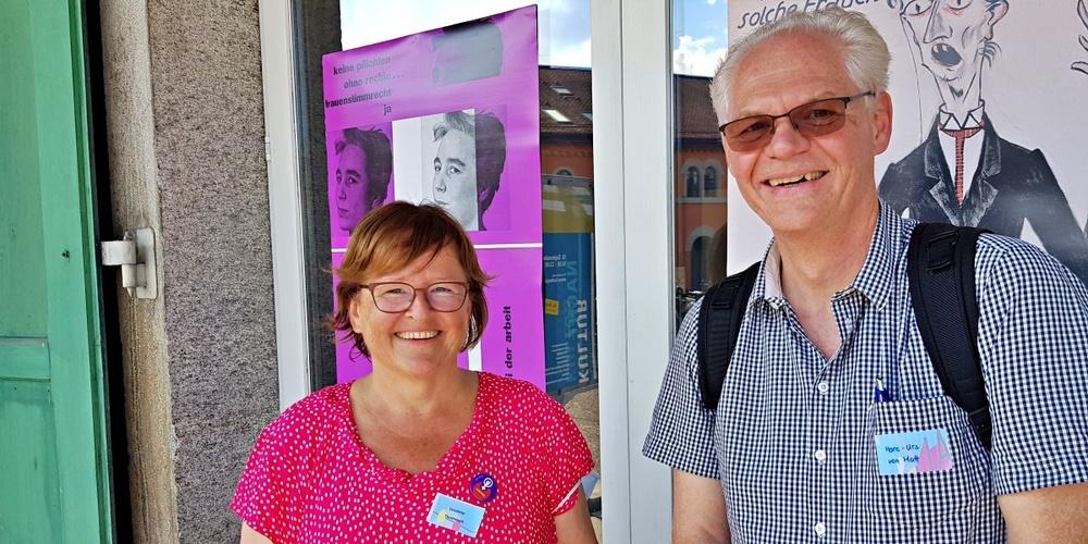 Susanne Thommen und Hans-Urs von Matt vom SP-Organisationskomitee.