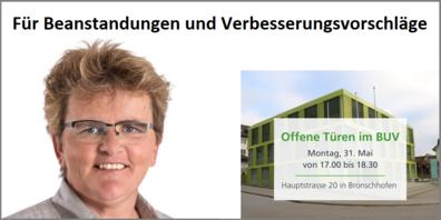 Stadträtin Ursula Egli und ihre Mitarbeitenden des Departements Bau Umwelt und Verkehr (BUV) stehen Red' und Antwort.