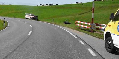 Am Samstag kam es auf dem Ricken zu einem Unfall mit einem Motorrad.