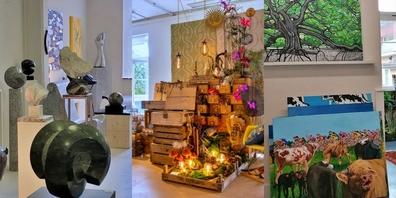 An den Tagen der offenen Ateliers können Besucher die unterschiedlichen und vielfältigen Schaffen bewundern.