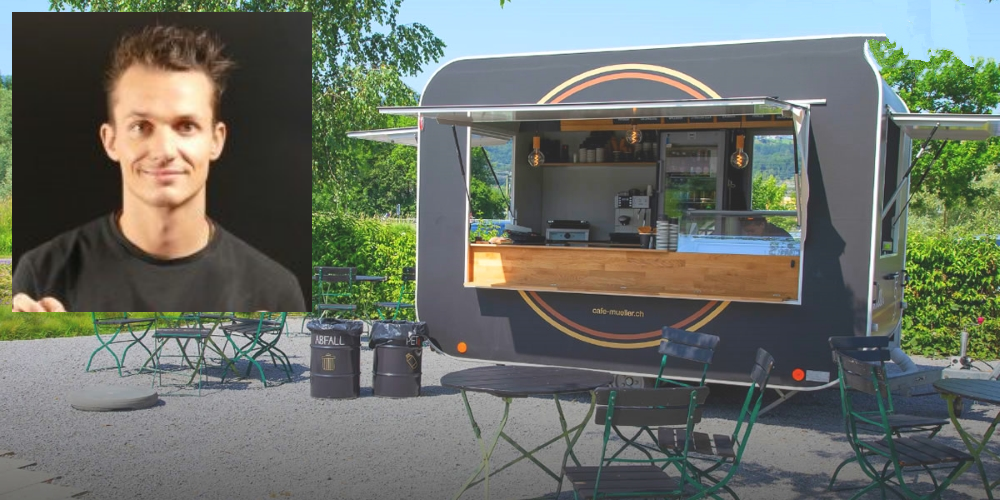 Elias Müller, Mitglied der Geschäftsleitung Café-Konditorei Müller AG: «Der Foodtruck ist in den Sommerferien täglich geöffnet, sofern das Wetter stimmt und Baden möglich ist.»